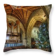 Cathedral Christmas Throw Pillow