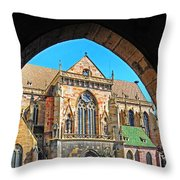 Cathedral Colmar France Throw Pillow