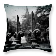 Cathedral Fence Throw Pillow