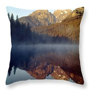 4m9304-cathedral Group Reflection, Tetons, Wy Throw Pillow