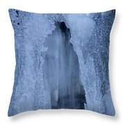 Cathedral Ice Waterfall Throw Pillow