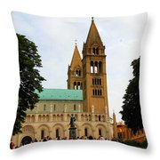 Cathedral In Pecs Throw Pillow