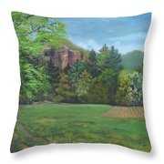 Cathedral Ledge From Westside Road Throw Pillow