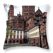 Cathedral - Mainz Throw Pillow