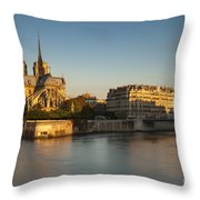Cathedral Notre Dame - Sunrise Throw Pillow