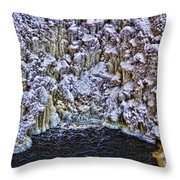 Cathedral Of Ice Throw Pillow