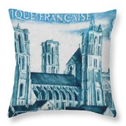 Cathedral Of Laon Throw Pillow