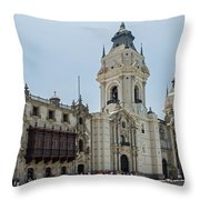 Cathedral Of Lima Throw Pillow