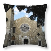 Cathedral Of San Giusto Throw Pillow
