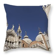 Cathedral Of San Marco  Throw Pillow