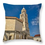 Cathedral Of Split Diocletian Palace Throw Pillow