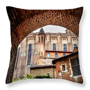 Cathedral Of Ste-cecile In Albi France Throw Pillow