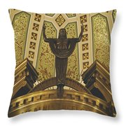 Cathedral Of The Immaculate Conception Detail - Mobile Alabama Throw Pillow