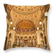 Cathedral Of The Sacred Heart 2 Throw Pillow