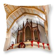 Cathedral Organ Throw Pillow