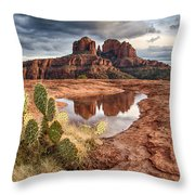Cathedral Rock After The Storm Throw Pillow