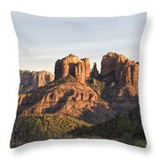 Cathedral Rock At Sunset Throw Pillow