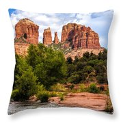 Cathedral Rock Throw Pillow by Fred Larson
