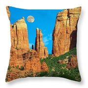 Cathedral Rock Moon Throw Pillow