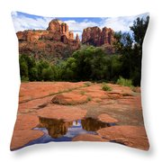 Cathedral Rock Reflections Throw Pillow