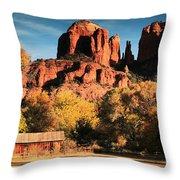 Cathedral Rock Sedona Arizona Throw Pillow