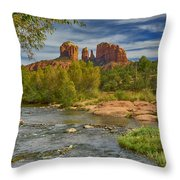 Cathedral Rock Sedona Az Dsc09018 Throw Pillow