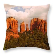 Cathedral Rock Sunset Throw Pillow