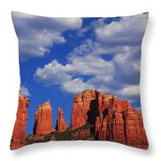 Cathedral Rock Throw Pillow by Tom Kelly