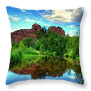 Cathedral Rocks At Red Rock Crossing Throw Pillow