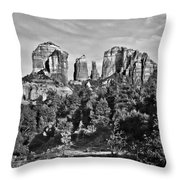 Cathedral Rocks Red Rock State Park Arizona Throw Pillow