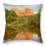 Cathedral Rocks Reflection Throw Pillow