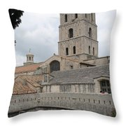 Cathedral Saint Trophime - Arles Throw Pillow