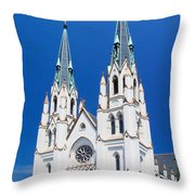 Cathedral, Savannah, Georgia Throw Pillow