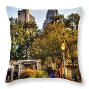 Cathedral Sq. And Rsa Throw Pillow