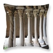 Cathedral St Sauveur - Croos-coat Throw Pillow