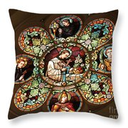 Cathedral Stained Glass Throw Pillow