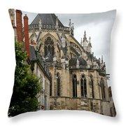Cathedrale Saint - Cyr - Et - Sainte - Julitte De Nevers Throw Pillow
