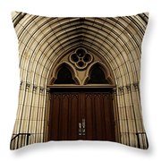 Catherdral Door's Throw Pillow