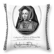 Catherine Of Aragon (1485-1536) Throw Pillow