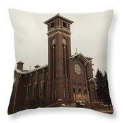 Catholic Church In Lewesiton  Throw Pillow