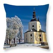 Catholic Church In Town Of Krizevci Throw Pillow