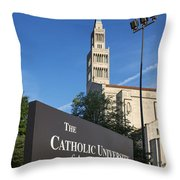 Catholic University Of America Throw Pillow