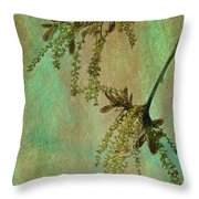 Catkins -- Tree-flowers Throw Pillow