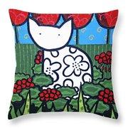 Cats 4 Throw Pillow