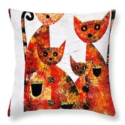 Cats 727 Throw Pillow