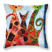 Cats 737 - Marucii Throw Pillow