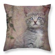 Cat's Eyes #02 Throw Pillow