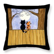 Cats Night Out Throw Pillow