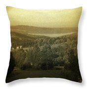 Catskill Mountains New York  Barn-shandelee - Featured In Comfortable Art And All About Ny Groups Throw Pillow