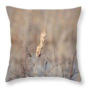 Cattail Gold Throw Pillow